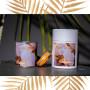 Coffret fête des mères bougies Fleur de coton et bracelet orange
