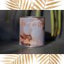 Coffret bougie Fleur de Coton bracelet cuir orange