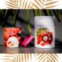 Coffret fête des mères bougies Litchi et bracelet Fuchsia