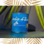 Coffret bougie Monoï/Clémentine bracelet bleu