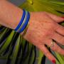 Coffret bougie Coco bracelet bleu