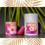 Coffret bougie bijoux fête des mères bougie fleur de cerisier bracelet fuchsia