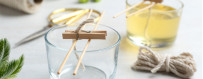 Bougies parfumées artisanales cire soja, mèche coton, parfum de grasse
