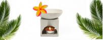 Brûle parfums haut en céramique
