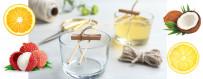 Bougie parfumée fruitée et agrumes