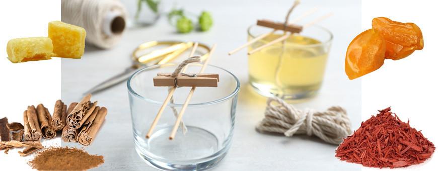 Bougie parfumée senteur épicée boisée ambrée