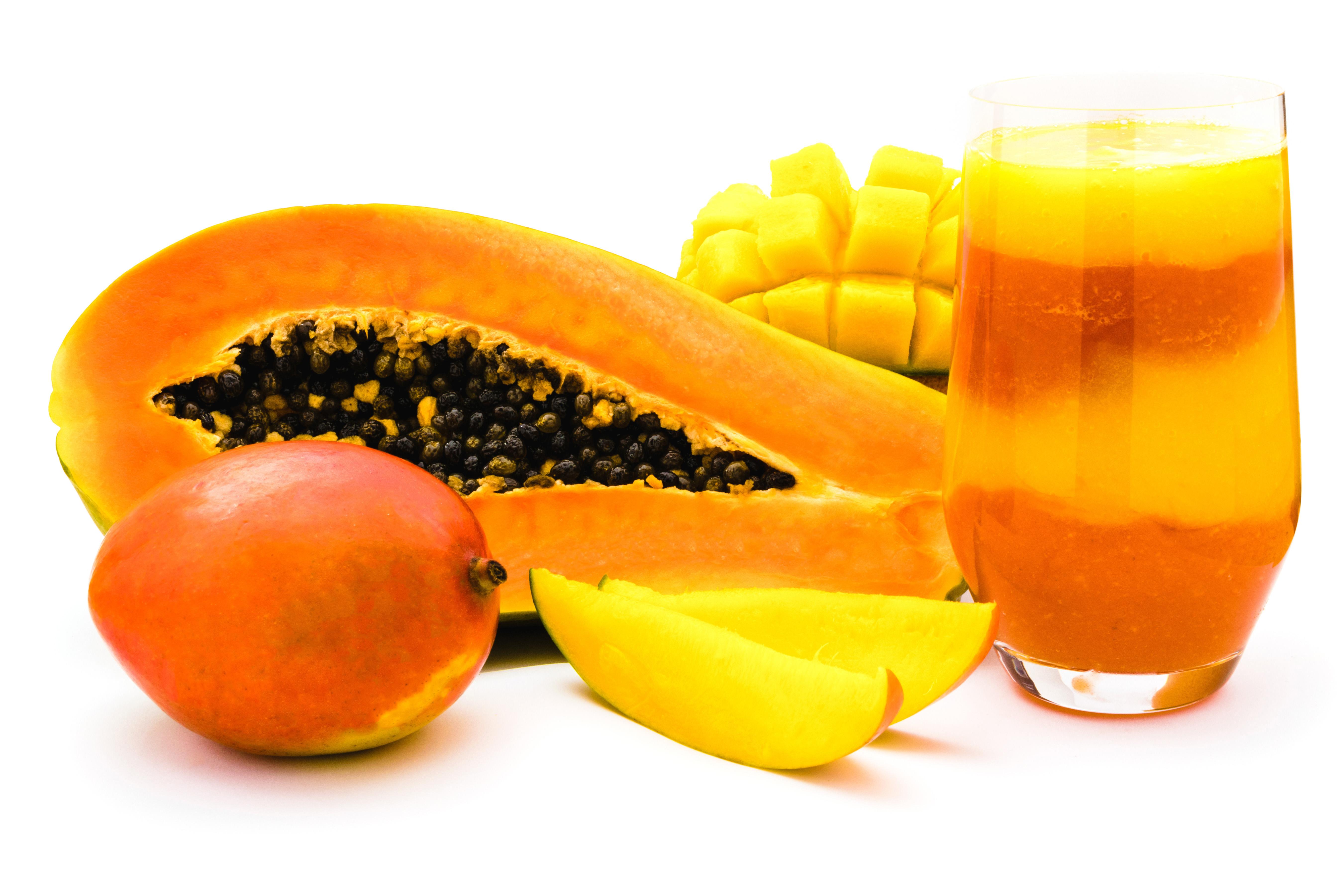 Bougie parfumée naturelle mangue papaye